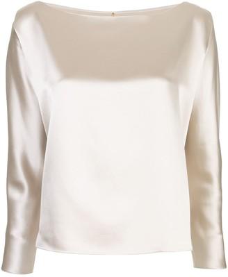 Peter Cohen silk plain blouse .