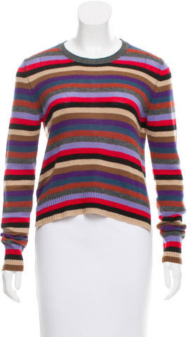 prada Prada Striped Cashmere Sweater