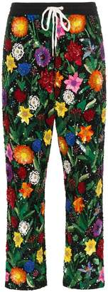 Ashish Floral Print Sequin Trousers