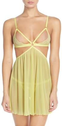 Honeydew Intimates Lucy Open Cup Babydoll & G-String - 2-Piece Set
