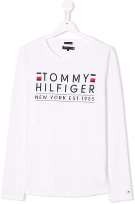 Tommy Hilfiger Junior TEEN logo print T-shirt