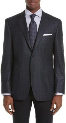 Men's Canali Siena Classic Fit Plaid Silk & Wool Sport Coat $1,495 thestylecure.com