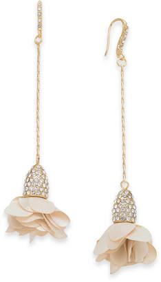 INC International Concepts I.n.c. Fabric-Flower Drop Earrings