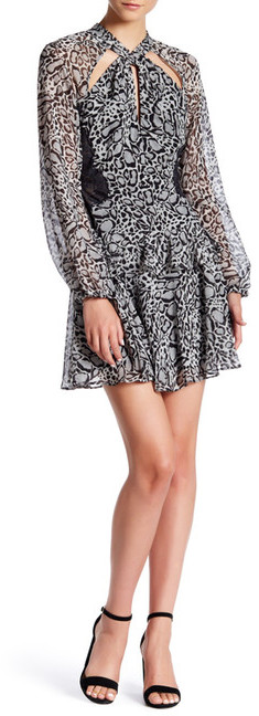 BCBGMAXAZRIABCBGMAXAZRIA Kamiya Woven Silk Fit & Flare Dress