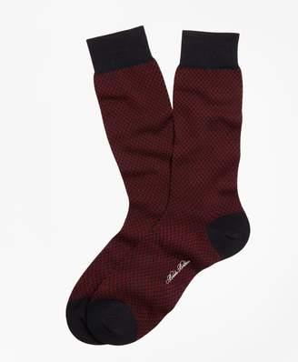 Brooks Brothers Basketweave Crew Socks