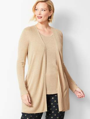 Talbots Sparkle Open-Front Duster Sweater