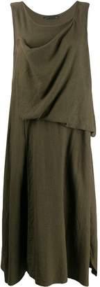 Yohji Yamamoto drape detail dress