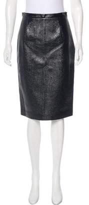 Tamara Mellon Leather Knee-Length Skirt