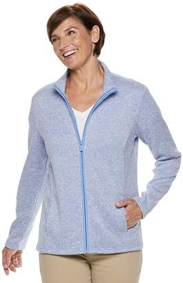 Croft & Barrow Women's Zip-Front Sweater Jacket