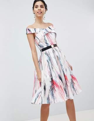 Little Mistress Prom Skater Dress In Print