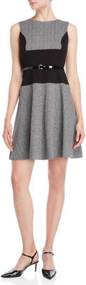Tommy Hilfiger Herringbone Belted Sweater Dress