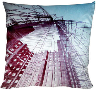 Dragon Optical 88 Skyscraper Digital Print Pillow