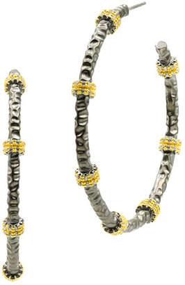 Freida Rothman Signature Textured Hoop Earrings