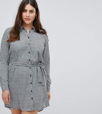 AX Paris Plus Gingham Shirt Dress