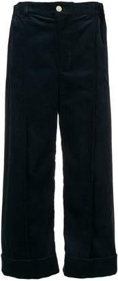 Julien David velvet cropped trousers