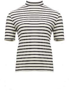 Shio Stripe Tee - Black - S/M - White/Natural/Black