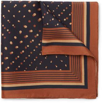 Dries Van Noten Printed Silk Pocket Square