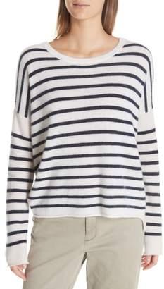 ATM Anthony Thomas Melillo Colorblock Stripe Cashmere Sweater