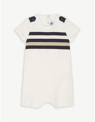 Petit Bateau Stripe cotton romper 3-24 months