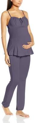 La Redoute Cache Coeur Womens Delicious Maternity And Nursing Pyjamas Grey