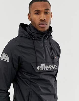 55829a75 Ellesse Ion overhead jacket with reflective logo in black