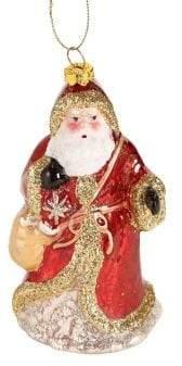 GLUCKSTEINHOME Santa with Bag Ornament