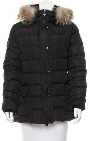 MonclerMoncler Mer Fur-Trimmed Coat