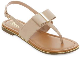 A.N.A Womens Senna Slingback Strap Flat Sandals