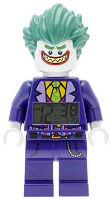 Lego Batman Movie 9009341 The Kids Minifigure Alarm Clock | Purple/Green | Plastic | 9.5 inches Tall | LCD Display | boy Girl | Official