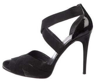 Donald J Pliner Patent Leather Caged Sandals