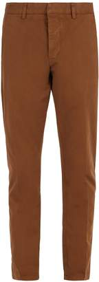 Ami Tapered-leg cotton cropped trousers
