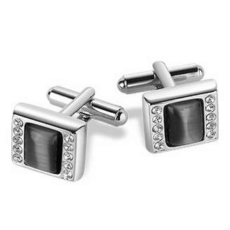 Forzieri Anthracite Silver-plated Cufflinks