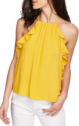 1 STATE 1.STATE Flounce Edge Halter Neck Top