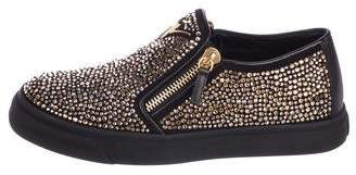 Giuseppe Zanotti Beaded Slip-On Sneakers