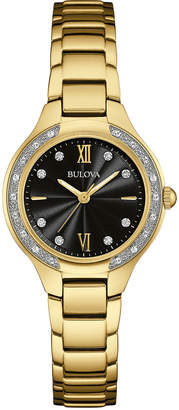 Bulova 25mm Maiden Lane Bracelet Watch w/ Diamonds $320 thestylecure.com