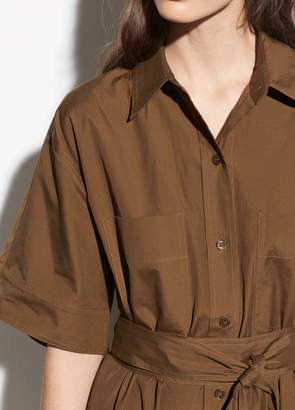 Short Sleeve Utility Shirt Dress