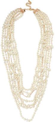 Kenneth Jay Lane White Stone Necklace Gold/white WDhAKtIJ