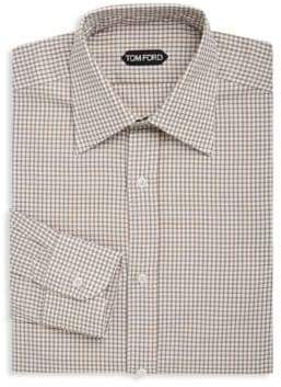 Tom Ford Gingham Cotton Dress Shirt