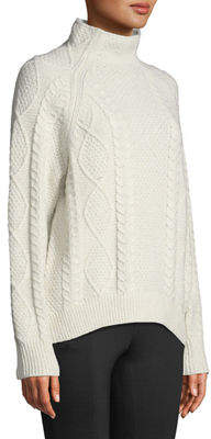 Vince Oversized Cable-Knit Turtleneck Sweater