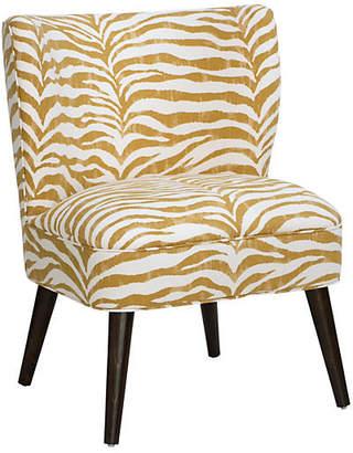 One Kings Lane Bailey Accent Chair - Ochre Zebra