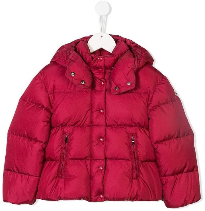 Moncler Kids logo patch padded coat