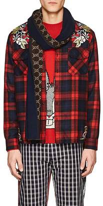 Gucci Men's GG Supreme Wool-Silk Scarf