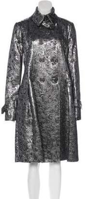 Burberry Brocade Knee-Length Coat