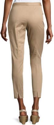 Neiman Marcus Antonelli Sestriere Tapered Wide-Cuff Pants, Beige