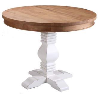 Izzie Round Oak Dining Table