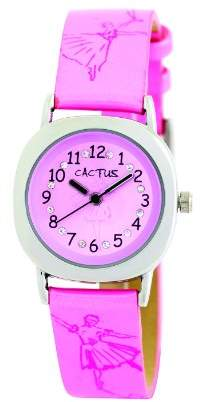 Cactus Girl's Quartz Analogue Watch CAC-54-L05 with Pink Ballet Stone Dial