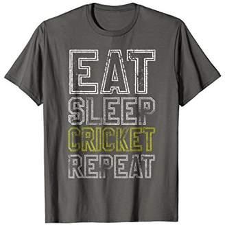Eat Sleep Cricket Repeat Funny T-shirt
