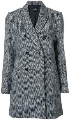 A.P.C. Joan double-breasted coat