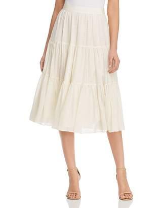 Tory Burch Textured Silk Skirt