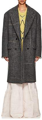 Calvin Klein Women's Checked Wool-Blend Bouclé Peacoat